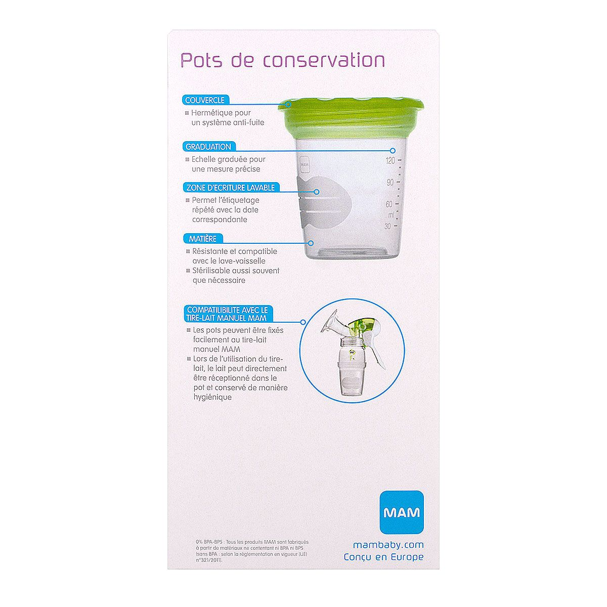 5 pots de conservation 120ml