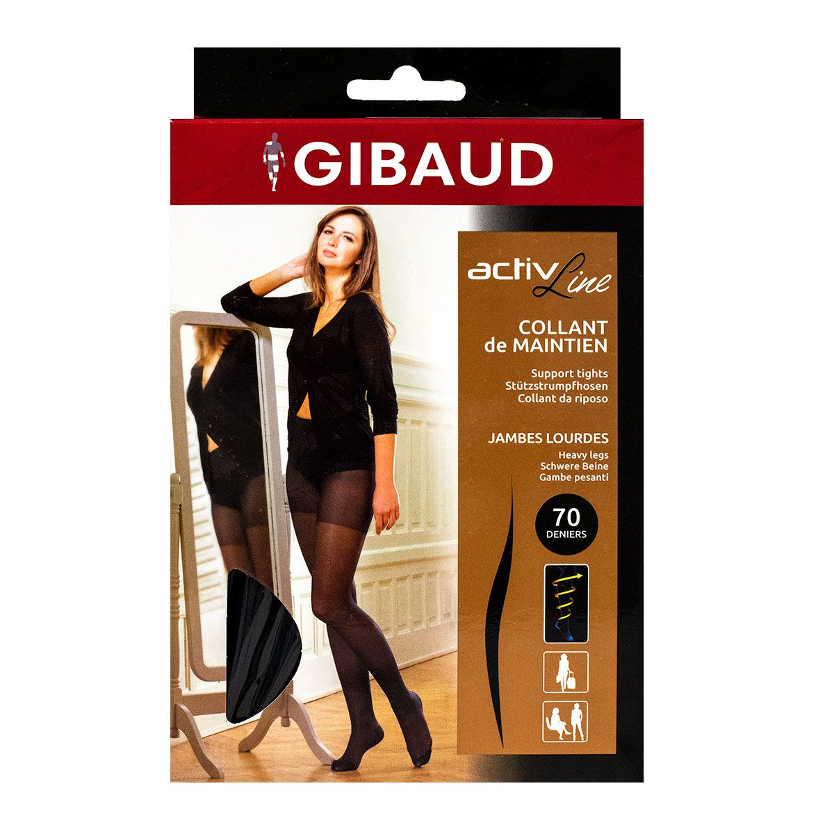 ActivLine collants de maintien T4 - Gris fumé