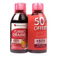 Turbodraine solution buvable 2x500ml - goût agrumes
