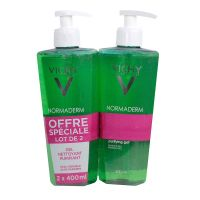 Gel nettoyant purifiant Normaderm 2x400ml