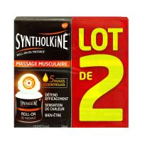 Syntholkiné roll on de massage 2x50ml