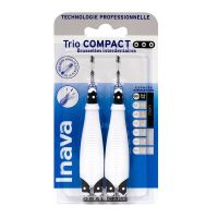 Trio Compact 2x3 brossettes interdentaires 0/0/0