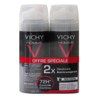 Déo triple diffusion anti-transpirant 72h 2x150ml
