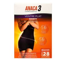 Anaca3 shorty ventre plat noir S/M