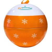 Coffret boule de Noël orange