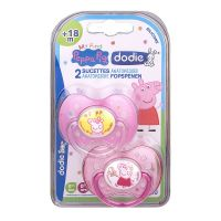 2 sucettes anatomiques +18m Peppa Pig rose