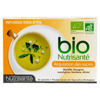 20 sachets infusion régulation sucre bio