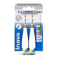 Trio Compact 2x3 brossettes interdentaires 1/2/3