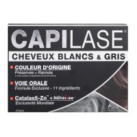 Cheveux blancs Capilase 30 capsules