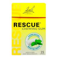 25 chewing-gums Rescue menthe verte