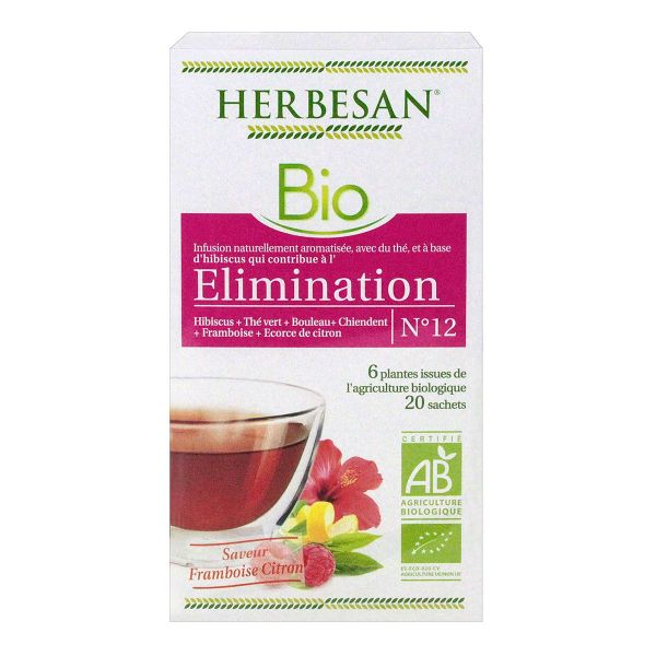 20 sachets infusion n°12 élimination