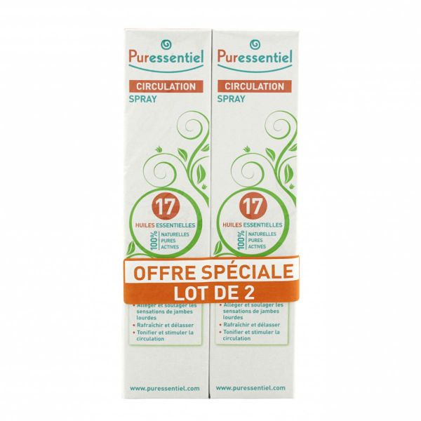 17 huiles essentielles spray circulation