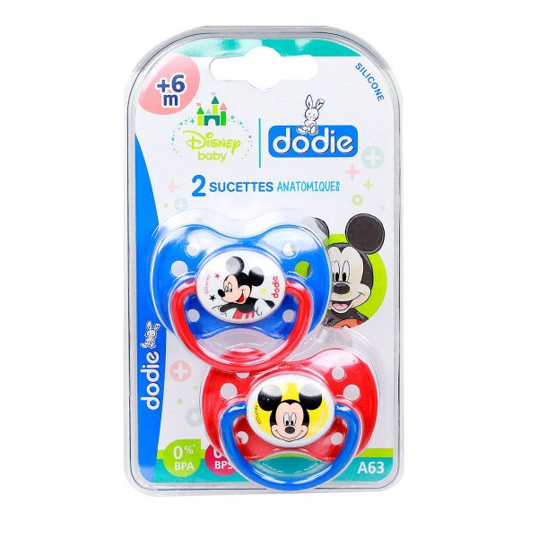 2 sucettes +6 mois Disney Mickey
