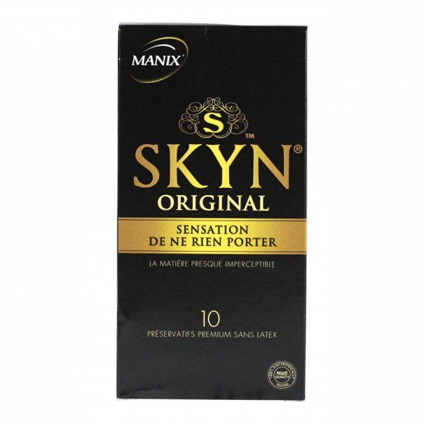 skyn original 10 pr servatifs premium sont utilis s pour des sensations ultimes seconde peau manix. Black Bedroom Furniture Sets. Home Design Ideas